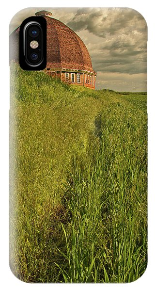 IPhone Case featuring the photograph Round Barn by Bob Cournoyer