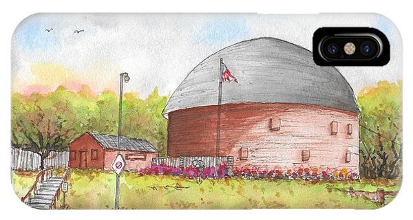 Round Barn In Route 66, Arcadia, Oklahoma IPhone Case
