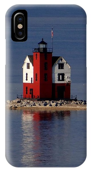 Round Island Lighthouse In The Morning IPhone Case