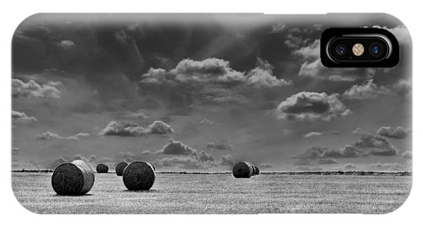 Round Straw Bales Landscape IPhone Case