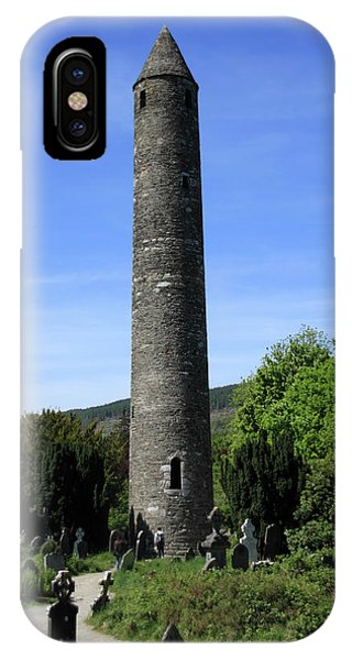 Round Tower At Glendalough IPhone Case