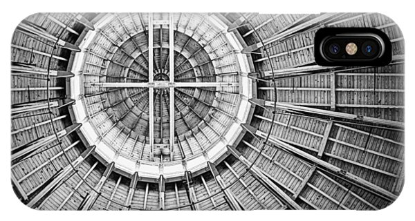Roundhouse Architecture - Black And White IPhone Case