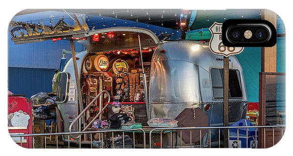 Route 66 And Airstream On Tha Pier IPhone Case