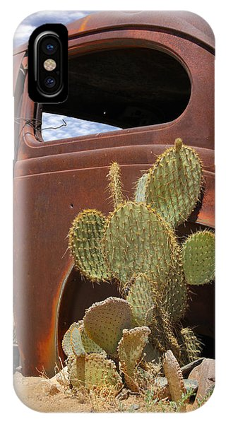 Southwest iPhone Case - Route 66 Cactus by Mike McGlothlen