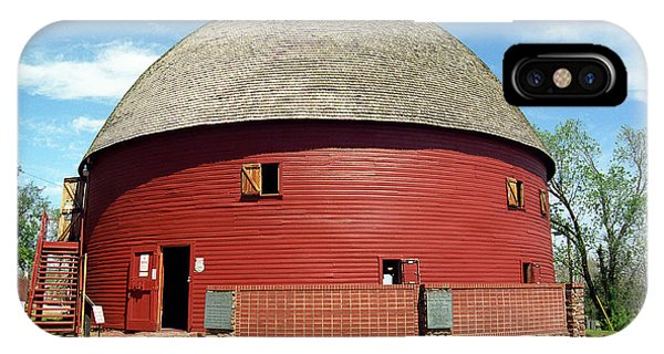 Route 66 - Round Barn IPhone Case