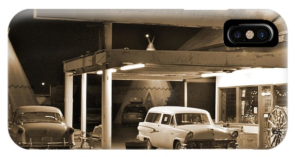 Gas Station iPhone Case - Route 66 - Wigwam Motel by Mike McGlothlen