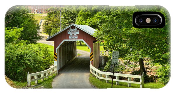 Somerset County iPhone Case - Route 812 Covered Bridge by Adam Jewell