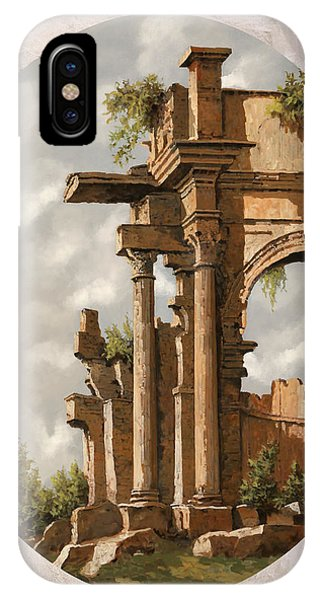 Columns iPhone Case - Rovine Romane by Guido Borelli