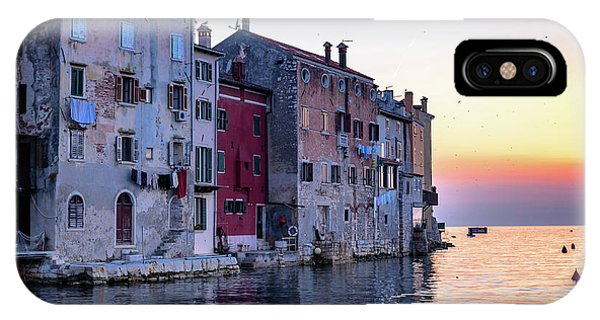 Rovinj Old Town On The Adriatic At Sunset IPhone Case