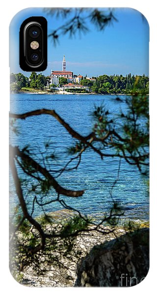Rovinj Seaside Through The Adriatic Trees, Istria, Croatia IPhone Case