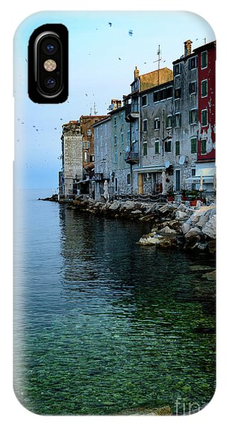 Rovinj Venetian Buildings And Adriatic Sea, Istria, Croatia IPhone Case
