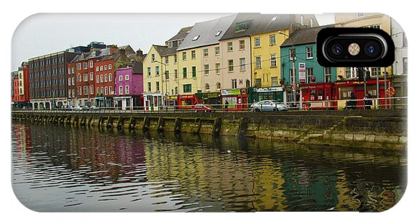Row Homes On The River Lee, Cork, Ireland IPhone Case