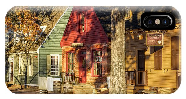 Row Houses Duke Of Gloucester Colonial Williamsburg IPhone Case