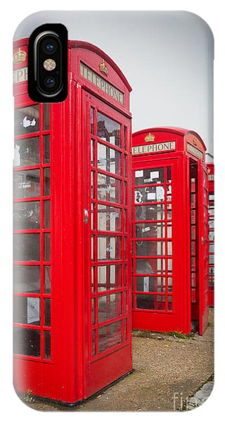Antiquated iPhone Case - Row Of Phone Booths by Inge Johnsson