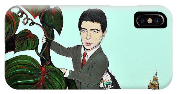 Rowan Atkinson Mr Beanstalk IPhone Case