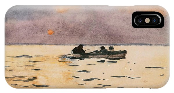 Homer iPhone Case - Rowing Home by Winslow Homer