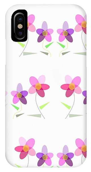 Rows Of Flowers IPhone Case