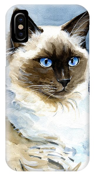 Roxy - Ragdoll Cat Portrait IPhone Case