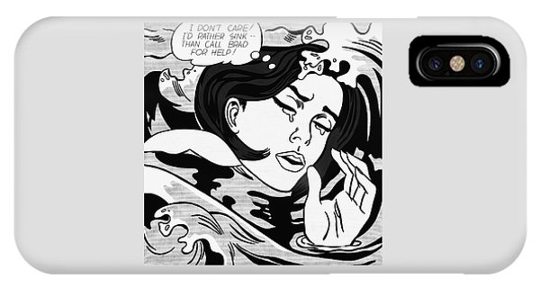 Drowning Girl  IPhone Case