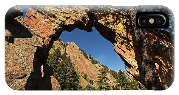 Royal Arch Trail Arch Boulder Colorado IPhone Case