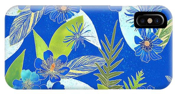 Royal Blue Aloha Tile 2 IPhone Case