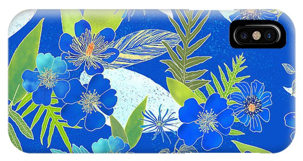 Royal Blue Aloha Tile 2 IPhone Case