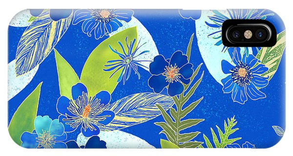 Royal Blue Aloha Tile 3 IPhone Case