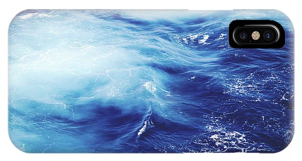 Waves iPhone Case - Royal Blue by Clem Onojeghuo