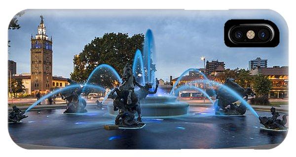 Royal Blue Fountain IPhone Case