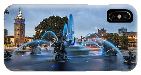 Royal Blue Fountain IPhone Case
