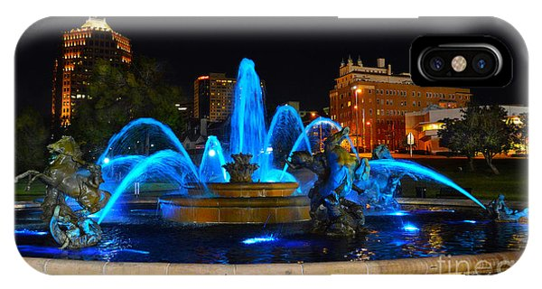 Royal Blue J. C. Nichols Fountain  IPhone Case