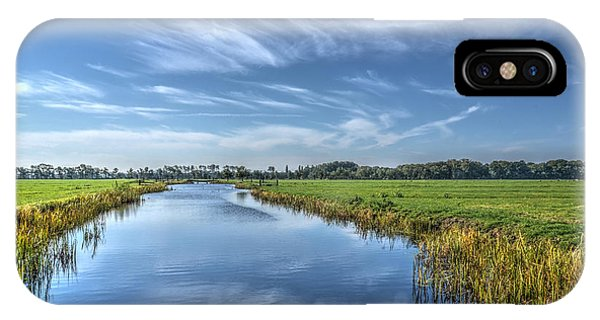 Royal Canal And Grasslands IPhone Case