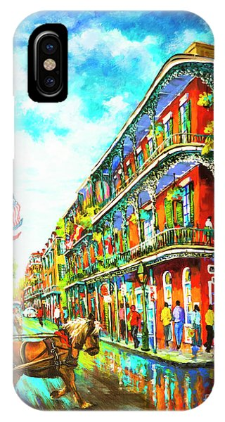 French Artist iPhone Case - Royal Carriage - New Orleans French Quarter by Dianne Parks