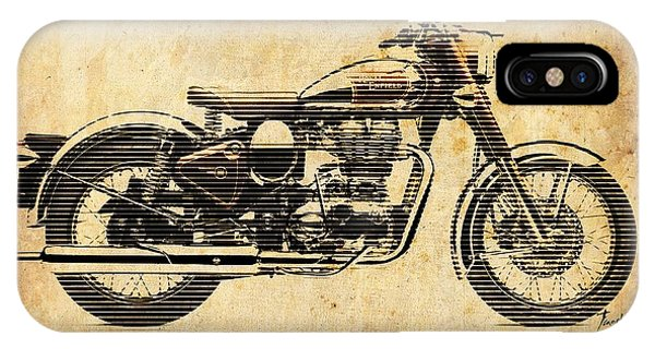 Arte iPhone Case - Royal Enfield Classic Chrome 2016, Poster For Men Cave by Drawspots Illustrations