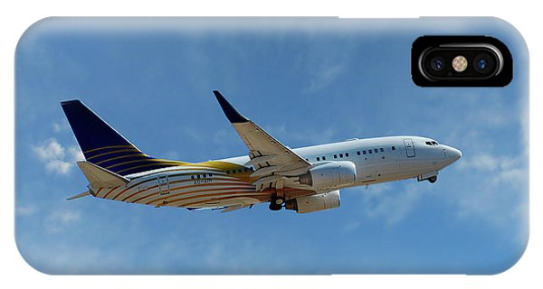 Airline iPhone Case - Royal Jet Boeing 737-7z5 by Smart Aviation