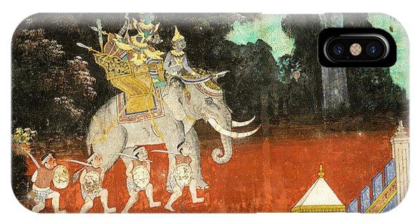 Royal Palace Ramayana 01 IPhone Case