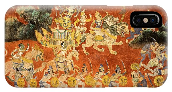 Royal Palace Ramayana 02 IPhone Case