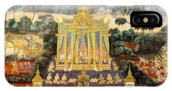 Royal Palace Ramayana 04 IPhone Case