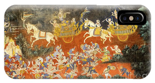 Royal Palace Ramayana 06 IPhone Case