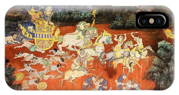 Royal Palace Ramayana 09 IPhone Case