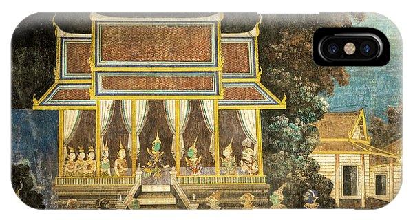 Royal Palace Ramayana 18 IPhone Case