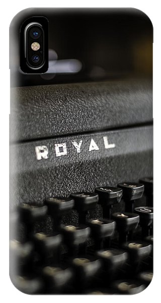 Royal Typewriter #19 IPhone Case