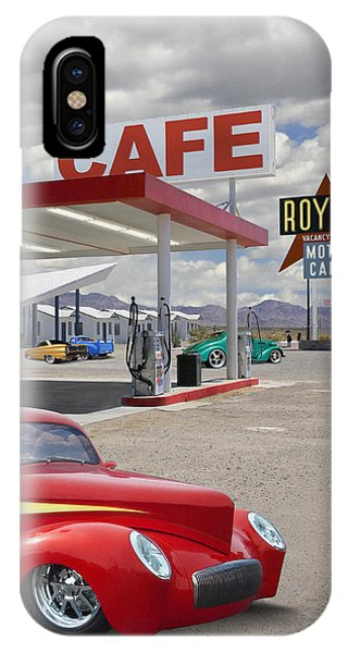 Gas Station iPhone Case - Roy's Gas Station - Route 66 2 by Mike McGlothlen