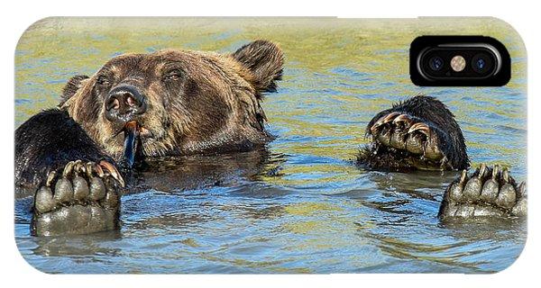 Rub A Dub Dub A Bear In His Tub IPhone Case