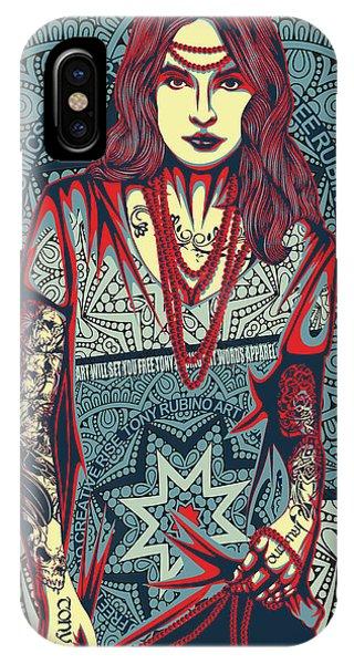 She iPhone Case - Rubino Red Lady by Tony Rubino