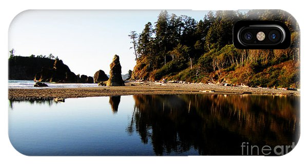 Ruby Beach Reflections IPhone Case