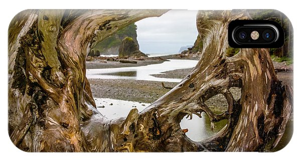 Ruby Beach Driftwood 2007 IPhone Case