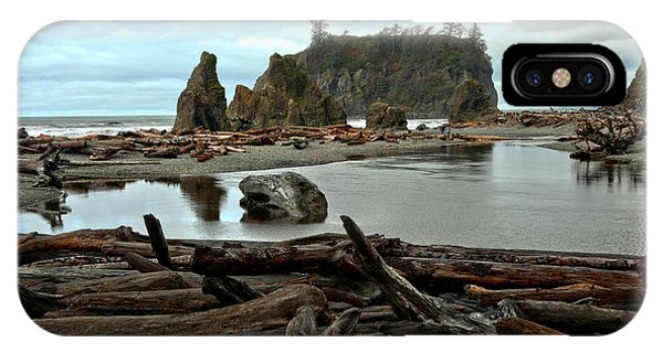 Ruby Beach Driftwood IPhone Case