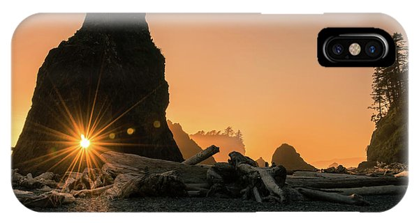 IPhone Case featuring the photograph Ruby Beach - Starburst Arch by Expressive Landscapes Fine Art Photography by Thom