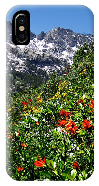 Ruby Mountain Wildflowers - Vertical IPhone Case